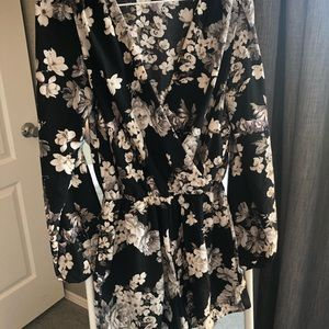 Long Sleeve Romper - Floral - Foreign Exchange